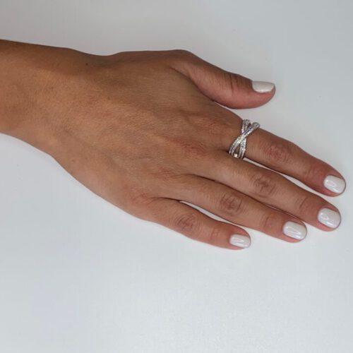 טבעת כסף איקס