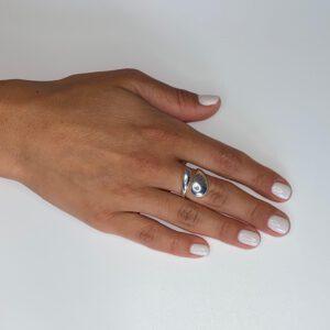 טבעת כסף S925 עם פתח מעוצב