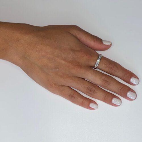 טבעת כסף אבני זכוכית