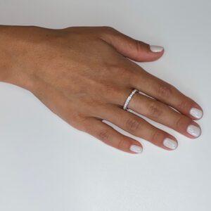 טבעת כסף שיבוץ מלא