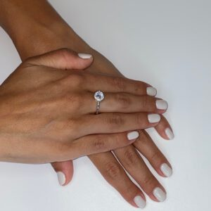 טבעת כסף סוליטר