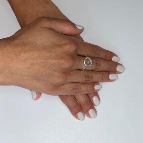 טבעת כסף S925 מעגל החיים בשיבוץ אבני זירקון