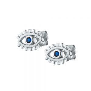 עגילים צמודים עין ריסים
