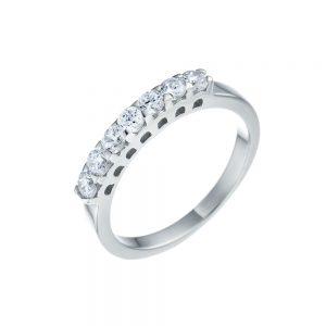 טבעת כסף S925 שבע אבנים