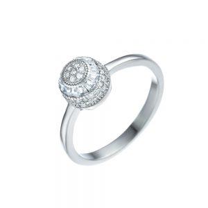 טבעת כסף כדור