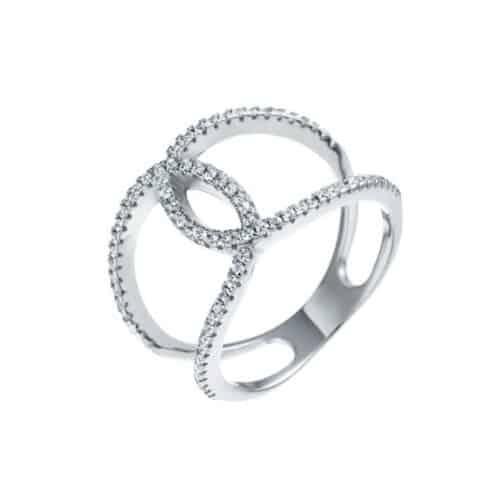 טבעת כסף לולאה