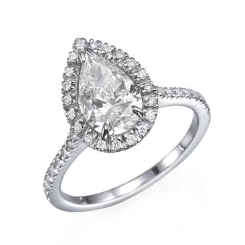 טבעת כסף טיפה מדיום
