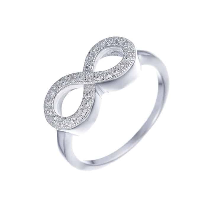 טבעת כסף אינסוף עבה