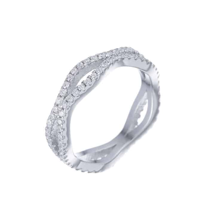 טבעת כסף גלים
