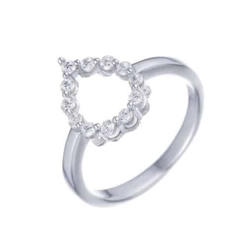 טבעת כסף S925 טיפה קים