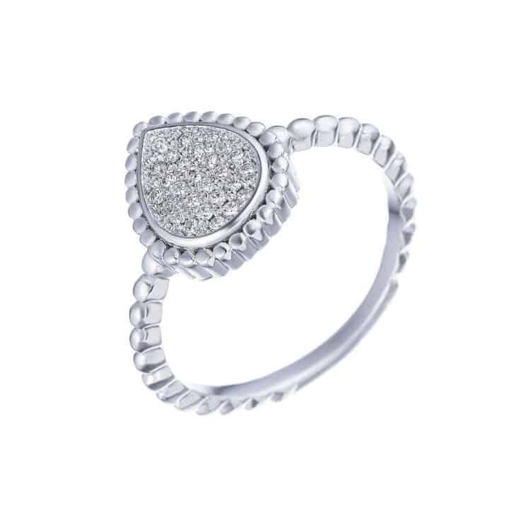 טבעת כסף טיפה מלאה