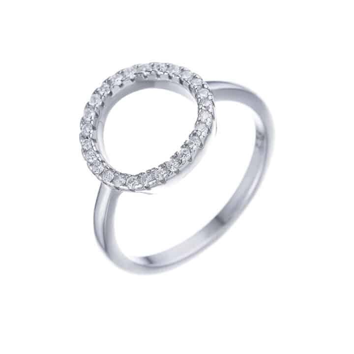 טבעת כסף מעגל החיים קלאסית