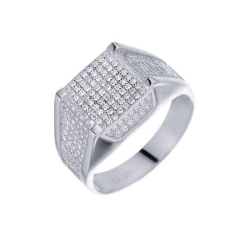 טבעת כסף S925 משובצת מנהטן