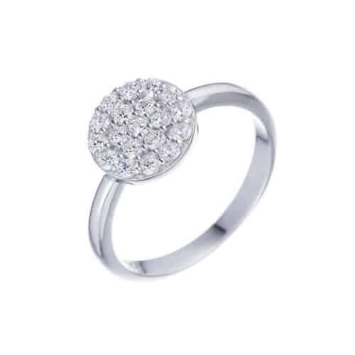 טבעת כסף S925 עיגול נאפולי
