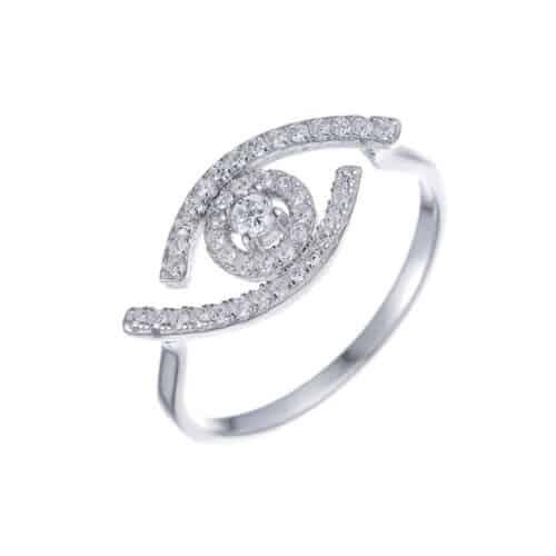 טבעת כסף S925 עין עדי