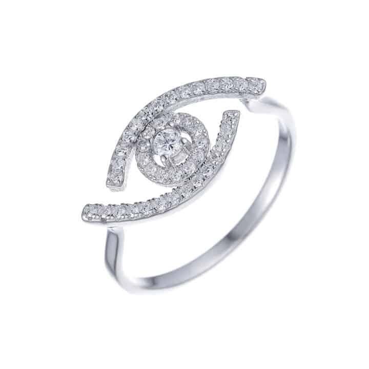 טבעת כסף עין עדי