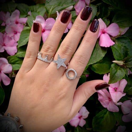 טבעת כסף S925 כתר