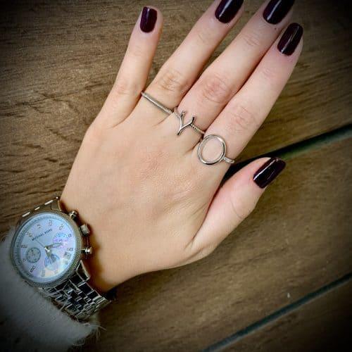טבעת כסף עיגול חלול