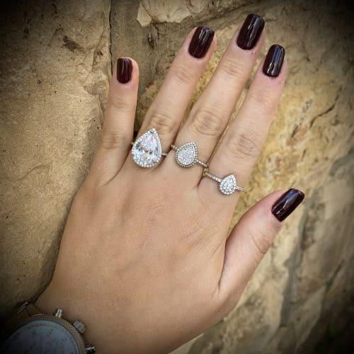 טבעת כסף S925 טיפה גלורי