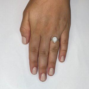 טבעת כסף S925 טיפה מלאה