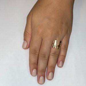 טבעת כסף S925 הרן אנד דאמן עם ציפוי רוז גולד