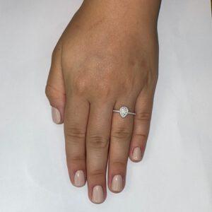 טבעת כסף S925 טיפה כפולה