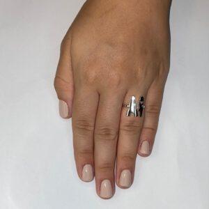 טבעת כסף S925 הרן אנד דאמן