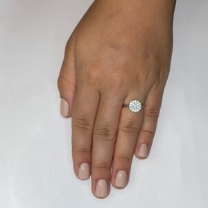 טבעת כסף S925 עיגול מלא