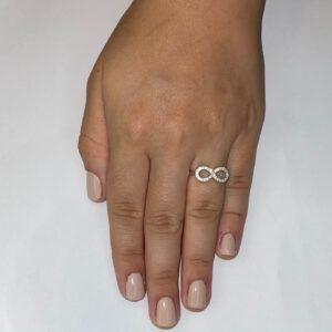 טבעת כסף S925 אינסוף עבה