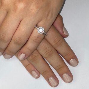 טבעת כסף S925 סוליטר קלאסית