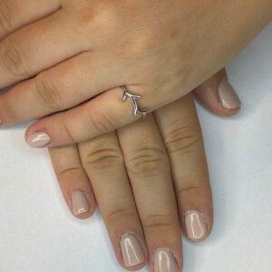 טבעת כסף S925 קרן