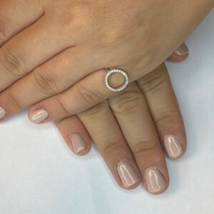 טבעת כסף S925 מעגל החיים קלאסית