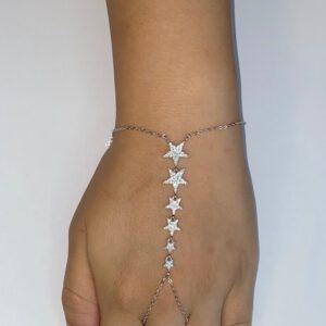 צמיד כסף S925 ג'אדה 5 כוכבים