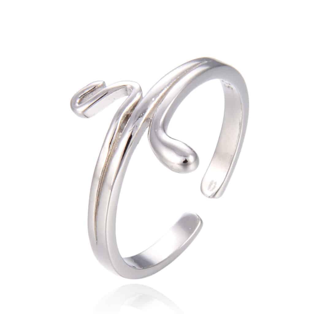 טבעת כסף סנייק 925