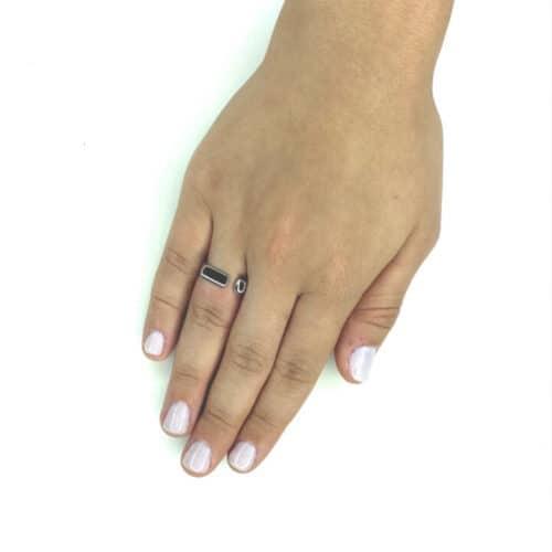 טבעת כסף 925 אינדור