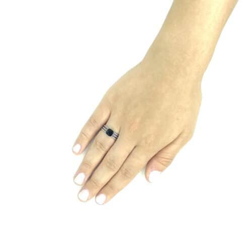 טבעת כסף 925  בלאק קייב