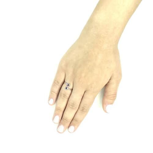 טבעת כסף 925  דאבל סטאר