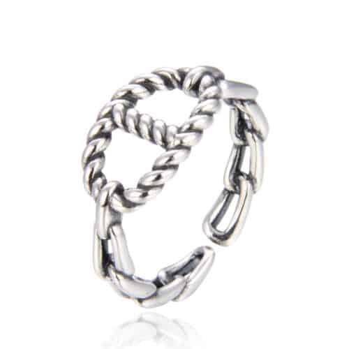 טבעת כסף 925  הנד קאפ
