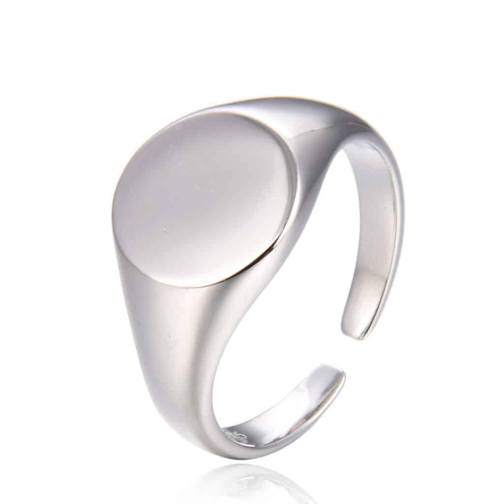 טבעת כסף 925 חותם קלאסי