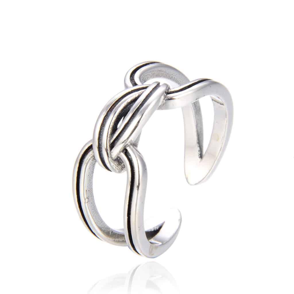 טבעת כסף 925 טאי