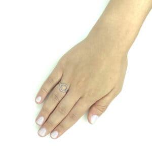 טבעת כסף 925 מעגל צמה