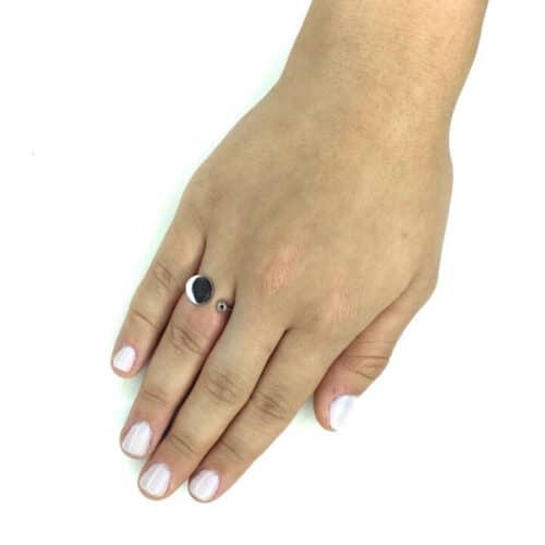 טבעת כסף 925  סירקלס