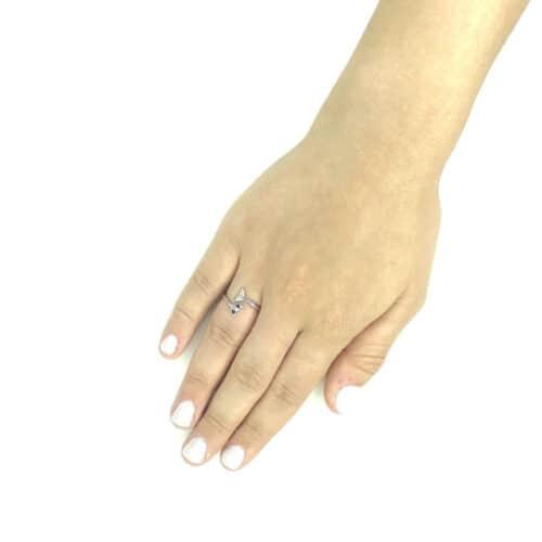 טבעת כסף 925  סנפיר