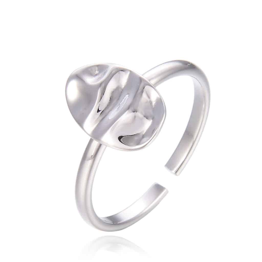 טבעת כסף 925 ראונד מירור