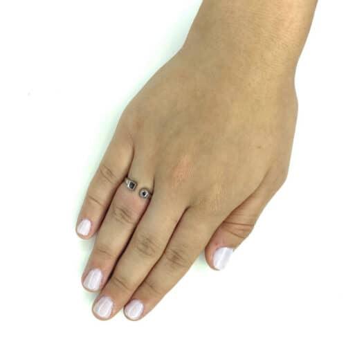 טבעת כסף 925  אשלי