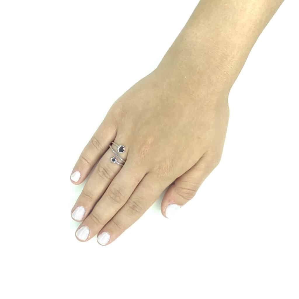 2 טבעת כסף 925 סטאר 1
