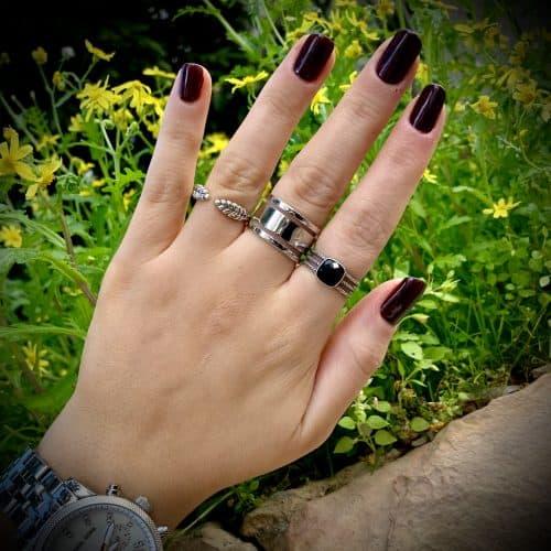טבעת כסף 925 טריפל קליר
