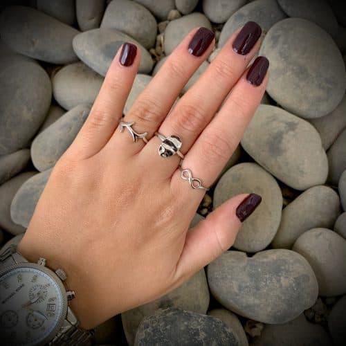 טבעת כסף 925 אינפינטי קליר