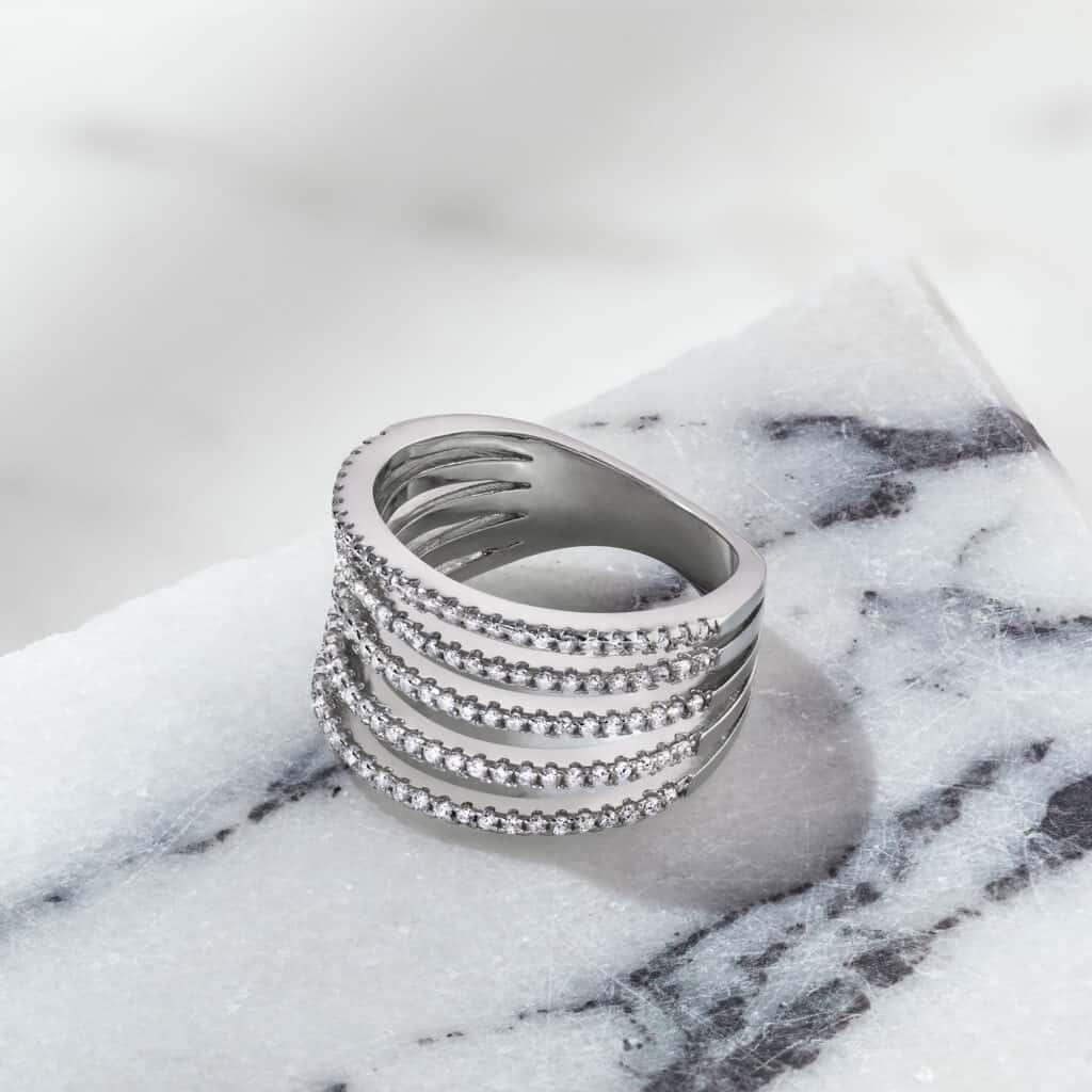 טבעת כסף לאישה הרן אנד דאמן