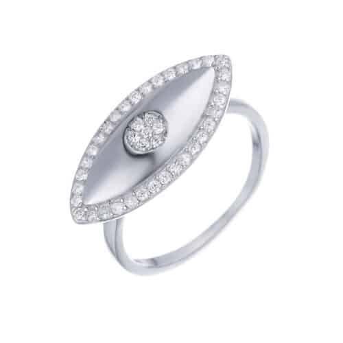 טבעת כסף 925 עין איזבל